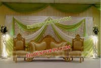 Stylish Wedding Gold Sofa Set