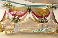 Indian Wedding Golden Sofa Set