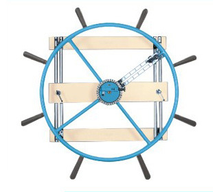 NAUTICAL cum SHOULDER WHEEL (Wall Mounting) Dia 48