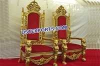 Maharaja Wedding Red & Gold Chairs