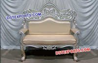 Silver Carved Wedding Love Seater
