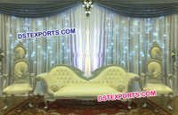 Wedding Stage Leaf Sofa Set