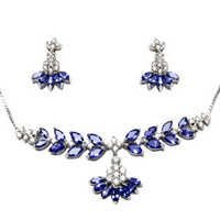 White Gold Tanzanite Diamond Set