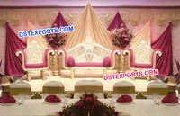 Latest Wedding Golden Sofa Set