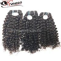 Machine weft curly hairs