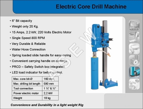 Core Drilling Machine Single speed