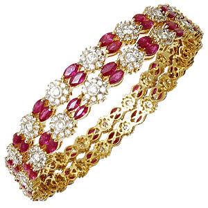 Pressure Set Diamonds Designer Indian Bangles
