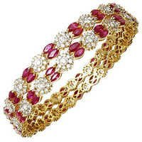 Pressure Set Diamonds Designer Indian Bangles