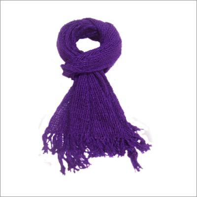 Silk Violet Net Scarf