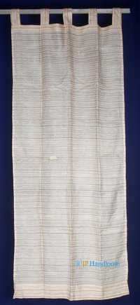 Silk Stripe Design Curtain