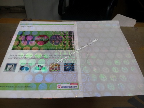 HOLOGRAPHIC SELF ADHESIVE DOCUMENT FILM
