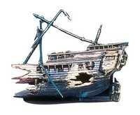 PENN PLAX HALF SHIP WRECK