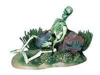 PENN PLAX ACTION SKELETON WITH JUG & TREASURE CHEST