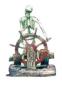 PENN PLAX SKELETON AT THE WHEEL