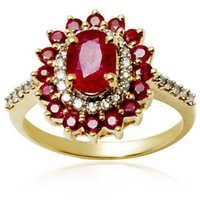 red ruby and diamond engagement, designer rings for women, gold jewelry gemstone for wholesale