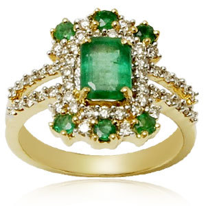 genuine emerald ring design, green emerald finger ring, ladies diamond emerald rings