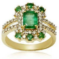 genuine emerald ring design, green emerald finger ring, ladies diamond emerald rings