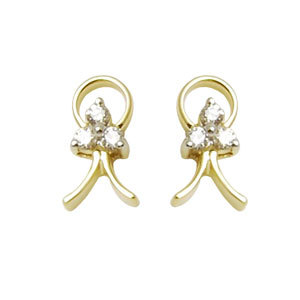 Gold diamond gold earrings for girls, 8k gold earr