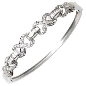 Baguette Round White Gold Jewellery Designs