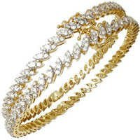 18k gold bangles indian solid gold bangle marquise