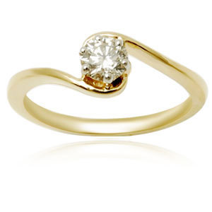 Yellow Gold Solitaire Rings