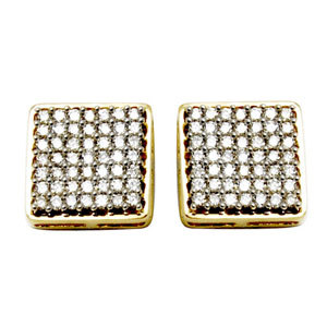 big square earrings design for women, square design dangle earrings, multiple diamonds studded earri
