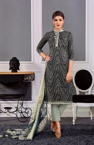 Black Cotton Stylish Casual Wear Suit