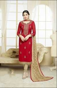 Red Stylish Georgette Suit
