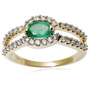 Designer Emerald Jewellery, Yellow Gold 18K Green