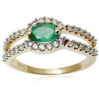Designer Emerald Jewellery, Yellow Gold 18K Green