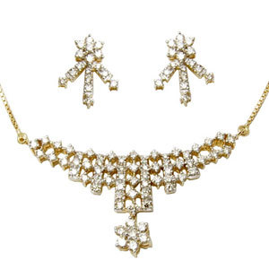 Diamond Jewelry Mangalsutra Pattern Necklace