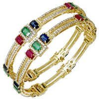 Multicolor Precious Gemstone Diamond Emerald Ruby