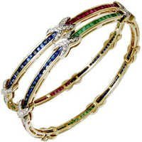 Designer Channel Setting Precious Bangle Supplier