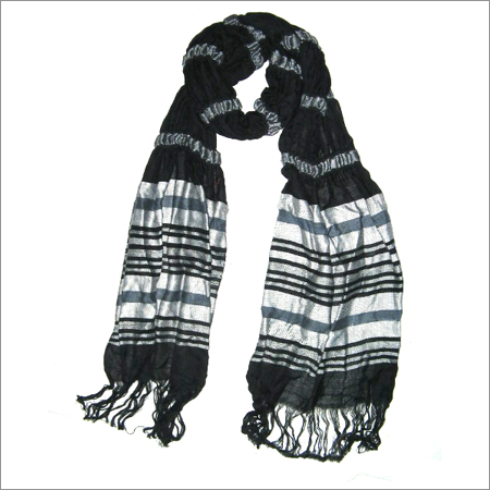 VISCOSE AND FANCY YARN LYCRA SCARVES