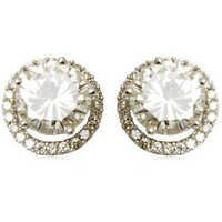 diamond solitaire, small accent diamond and centre big diamond tops,tops earrings jewelry