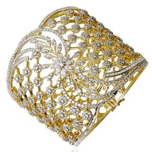Party Wear Classy Broad Bracelet Design