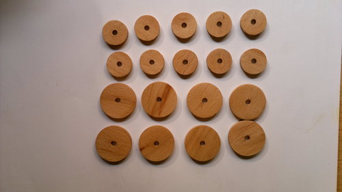One Hole Wooden Button