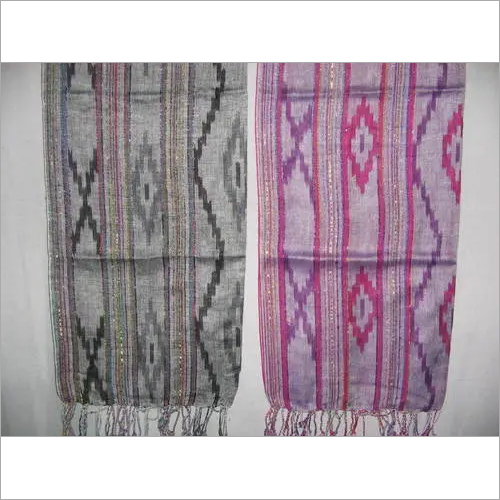 FANCY YARN IKAT SCARVES