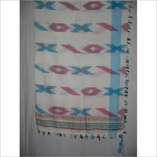 COTTON AND VISCOSE IKAT SCARVES