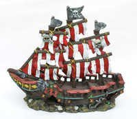 PENN PLAX PLANT SMALL STRIPED PIRATE SHIP