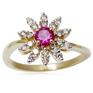 gold ring designs for girls, 14k white gold  diamond and ruby ring, simple ring design