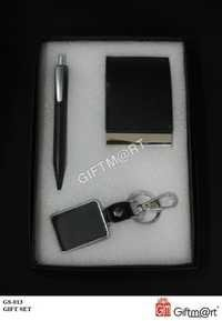 GIFT SET with pen card holder and keychain