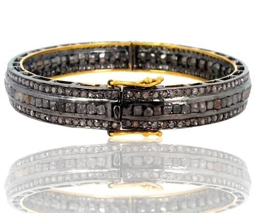 Diamond Gold Openable Bangle Jewelry