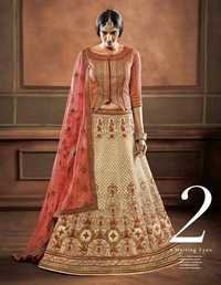 Multi Color Georgette Marvellous Bridal Wear Lehen