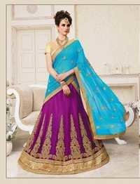 Multi Color Embroidery Lehenga
