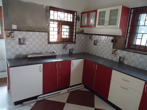 Red And White Colour Kitchen Aamphaa Projects No 63 190 Kpk Complex 100 Feet Road Jawaharlal Nehru Near Koyambedu Bus Stand Chennai India