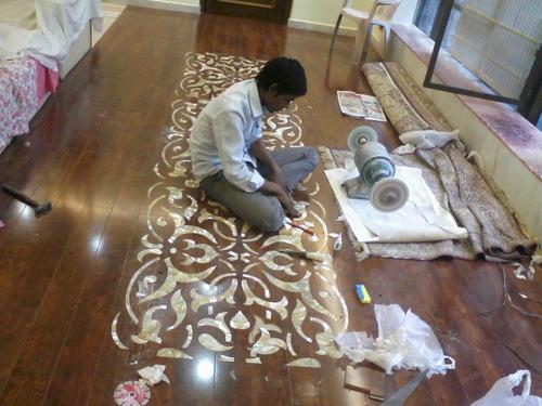 Wooden MOP Inlay Floor