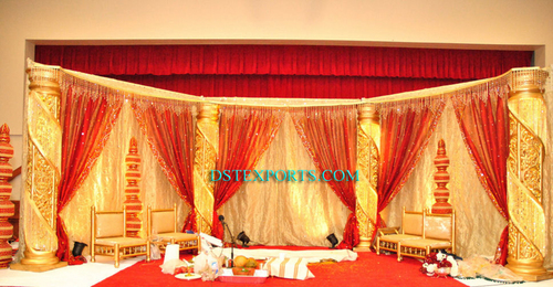 Royal Wedding Gold Crystal Stage