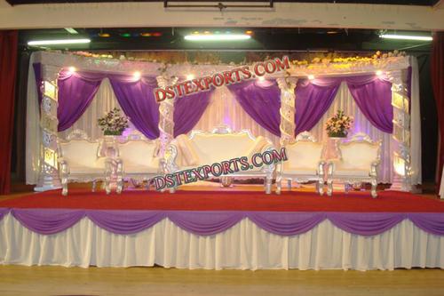 Muslim Wedding Crystal Stage Set