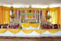 MUSLIM WEDDING MEHANDI STAGE SET